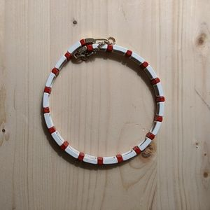 Roxanne Assoulin red and white choker necklace